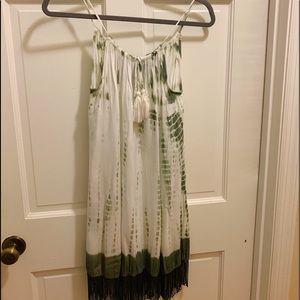 FAB'RIK green and white tie dye dress